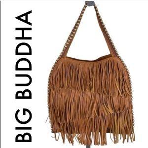 👑 BIG BUDDHA LARGE FRINGE SHOULDER BAG 💯AUTH